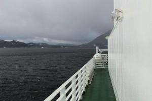 Upršané počasie na trajekte